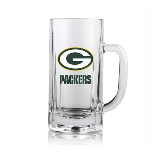 Duck House Green Bay Packers Clear Beer Mug