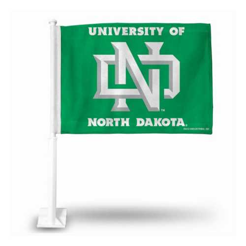 Rico North Dakota Fighting Hawks Car Flag
