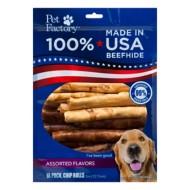 Pet Factory Assorted Flavor Beefhide Chip Rolls Dog Bones