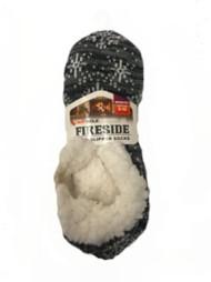 Adult Sof Sole Snowflake Slipper Socks