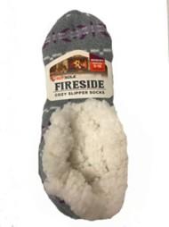 Adult Sof Sole Snowflake Split Slipper Socks