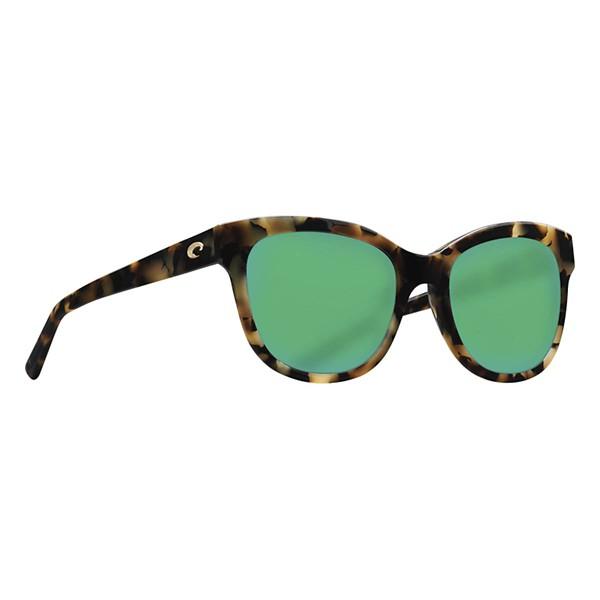 Shiny Vintage Tortoise / Green Mirror