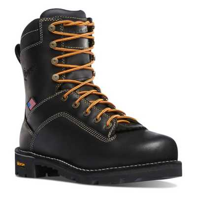 "Men's Danner Quarry USA 8"" Black Boots"