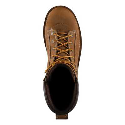 "Men's Danner Quarry USA 8"" Distressed Brown 400G Boots"