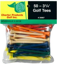 Charter Products 3-1/4  Golf Tees 50 Pack