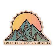 Dust City Designs Lost In The Right Direction Sticker