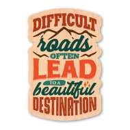 Dust City Designs Difficult Road Sticker