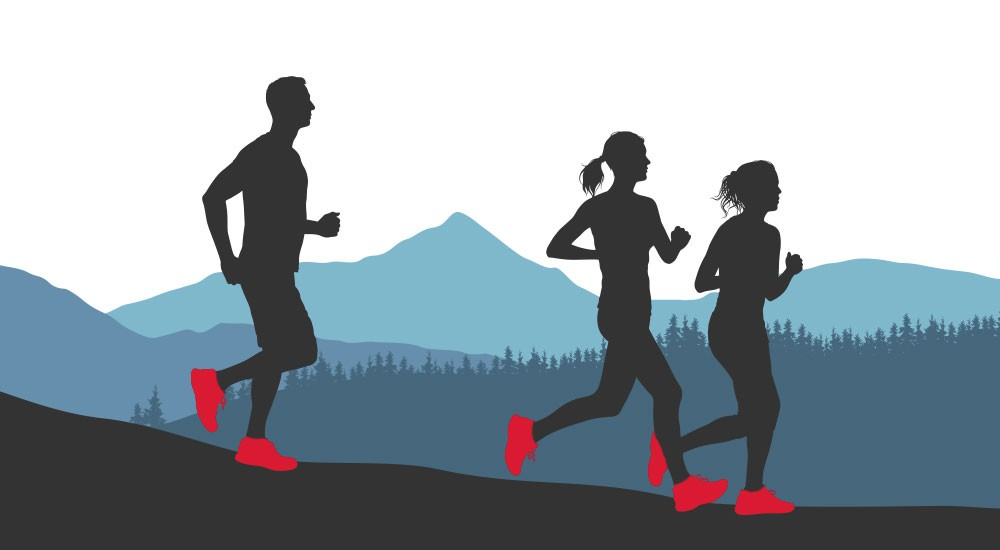 Graphic of runners learning how to pick running shoes