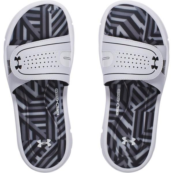 Women's Under Armour Ignite Maze VIII SL Women's Sandals Shoes Black/White
