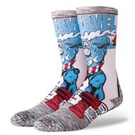 Men's Stance Captain America Comic Crew socks