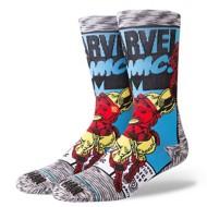 Men's Stance Iron Man Comic Crew Socks
