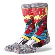 Men's Stance Spiderman Comic Crew Socks