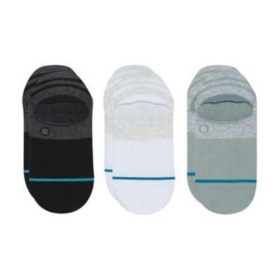 9-12 Stance NEW Men/'s White Gamut 3 Pack Super Invisible Socks Large