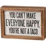 Primitives by Kathy Not A Taco Inset Box Sign