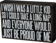 Primitives by Kathy A Little Kid Box Sign