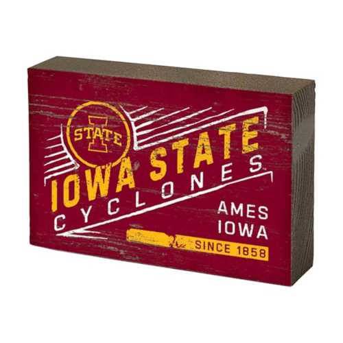 Legacy Athletic Iowa State Cyclones Table Block Sign