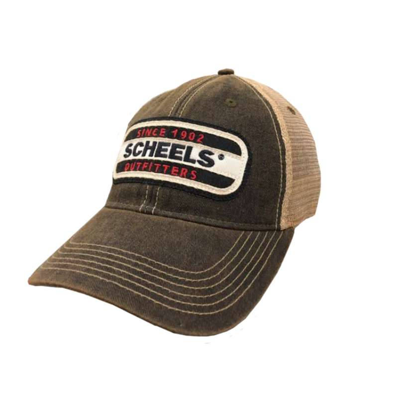 Scheels Outfitters Black Patch Hat