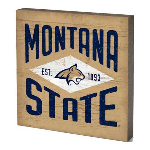 Legacy Athletic Montana State Bobcats Diamond Wood Sign