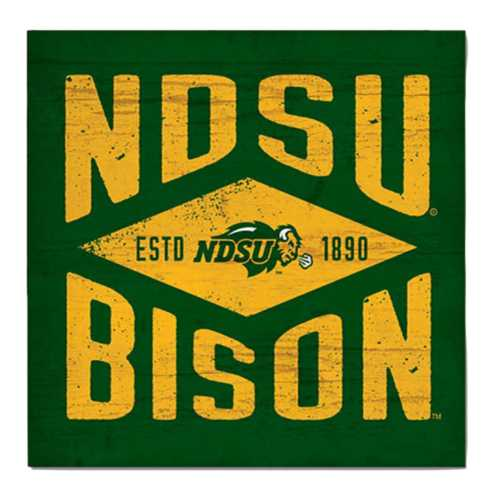 Legacy Athletic North Dakota State Bison Diamond Wood Sign