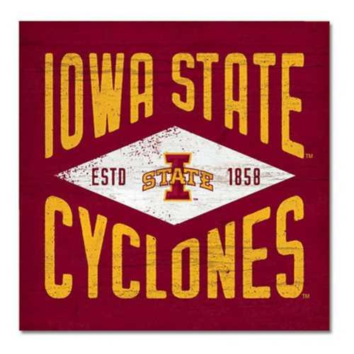Legacy Athletic Iowa State Cyclones Diamond Wood Sign