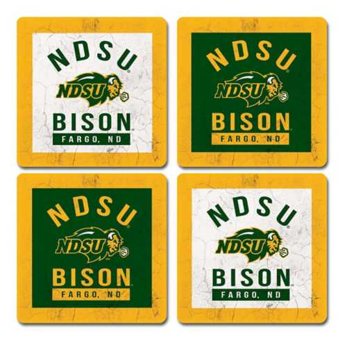 Legacy Athletic North Dakota State Bison 4pk Coaster Set