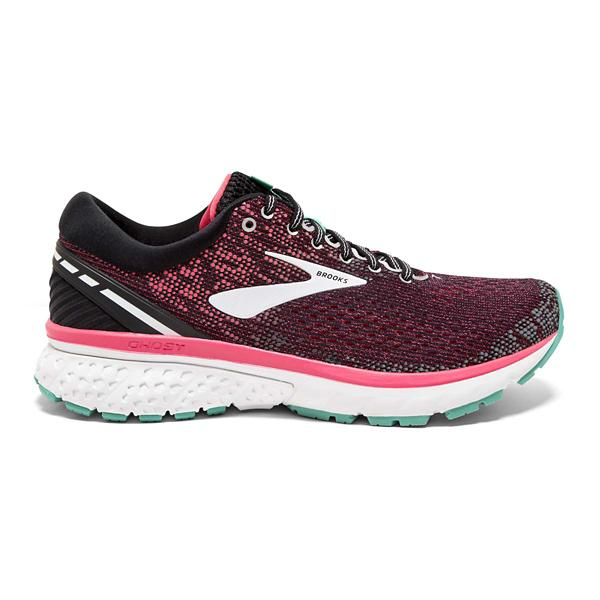 1ac8595cbd1c5 ... Women s Brooks Ghost 11 Running Shoes Tap to Zoom  Black Pink Aqua