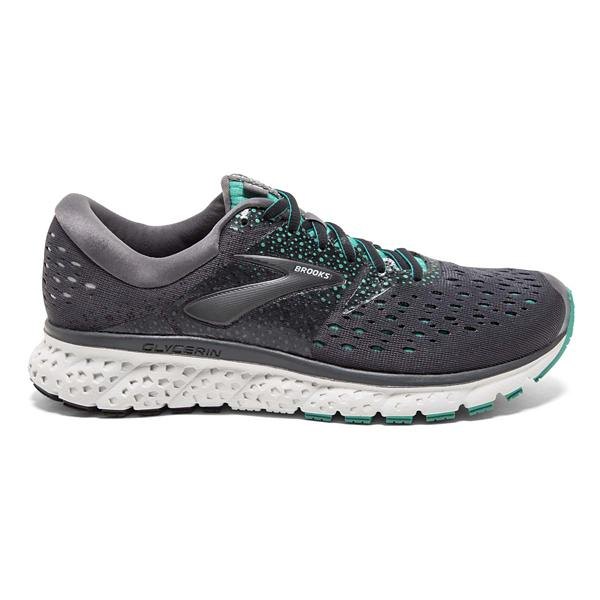 4ef7cc9b883 ... Women s Brooks Glycerin 16 Running Shoes Tap to Zoom  Ebony Green Black