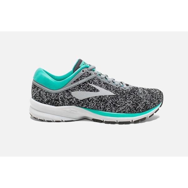 ... Women s Brooks Launch 5 Running Shoes Tap to Zoom  Grey Aqua Ebony c8b5a00efce