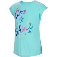 Youth Girls' adidas Just Shine Short Sleeve Shirt