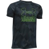 Youth Boys' Under Armour Big Logo Hybrid Printed T-Shirt