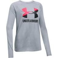 Youth Girls' Under Armour Big Logo Slash Long Sleeve Shirt