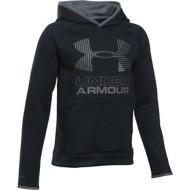 Youth Boys' Under Armour ARMOUR Fleece Solid Big Logo Hoodie