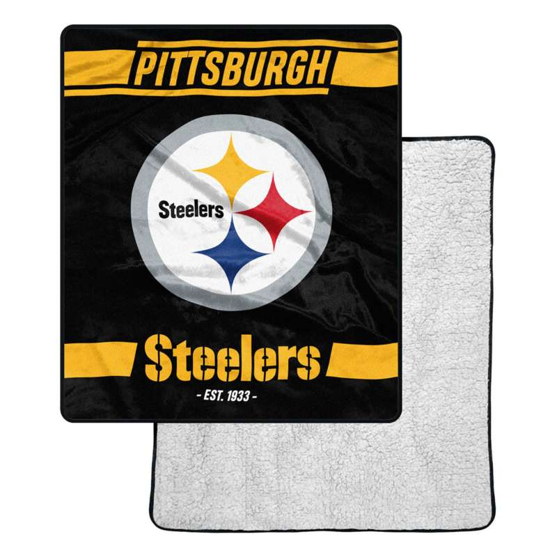 Northwest Company Pittsburgh Steelers Sherpa Blanket Scheels Com
