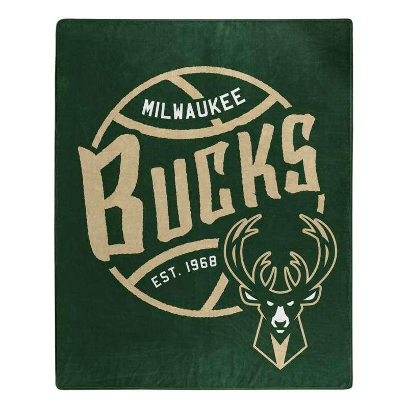 Northwest Company Milwaukee Bucks 50X60 Blacktop Raschel Throw Blanket