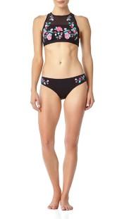 Women's Anne Cole Wildflower High Neck Bikini Top