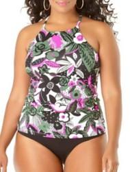 Women's Anne Cole Collection Plus Bolo Babe High Neck Tankini Top