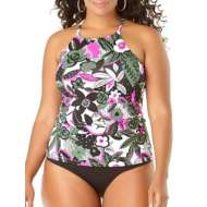 Women's Anne Cole Collection Plus Bolo Babe High Neck Tankini Top