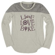 Women's Blue 84 Live Love Bike Long Sleeve Shirt