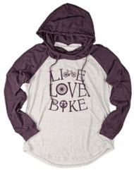 Women's Blue 84 Live Love Bike Hooded Long Sleeve Shirt