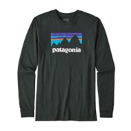 Men's Patagonia Long Sleeved Shop Sticker Cotton T-Shirt