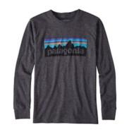 Boys' Patagonia Long-Sleeved P-6 Logo T-Shirt