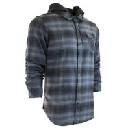 Men's Burnside Stu Long Sleeve Hooded Shirt