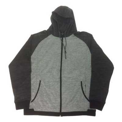 Men's Burnside Striped Fleece Tech Full Zip Hoodie