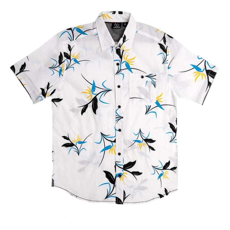 Men's Burnside Paradise Button Up Short Sleeve Shirt