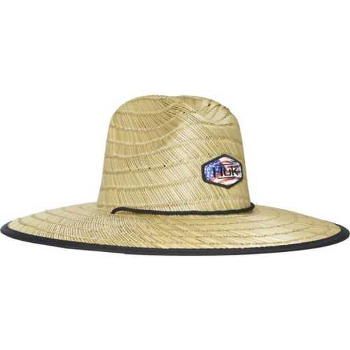 Huk Camo Patch Straw Hat