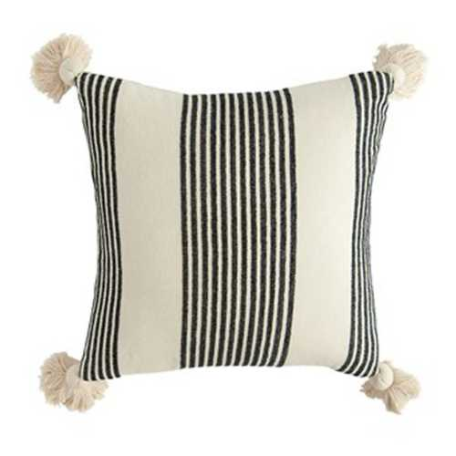Creative Co Op Square Cotton Chenille Striped Throw Pillow Scheels Com