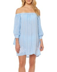 Women's Jessica Simpson Tie Cuff Swim Dress Cover-Up