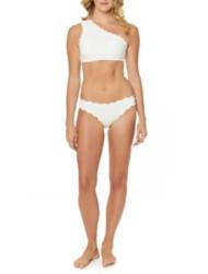Women's Jessica Simpson Scallop Edge Shoulder Bikini Top