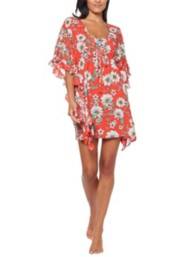 Women's Jessica Simpson Oopsy Daisy Frill Side Cover-Up