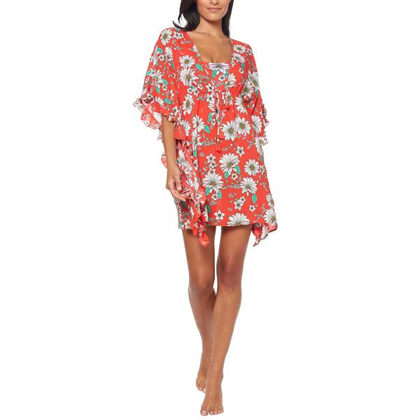 cf42ee3794 Women s Jessica Simpson Oopsy Daisy Frill Side Swim Dress Cover Up ...